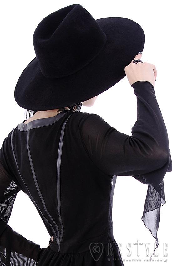 Black Gothic Hat WITCH Wide brim hat 636ceffef03