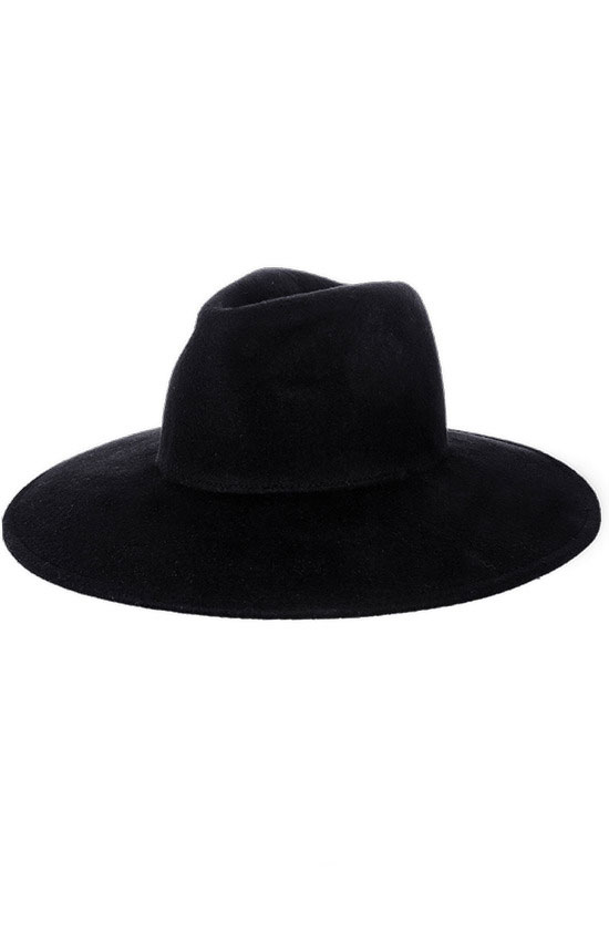 a0366becaa9 Black Gothic Hat WITCH Wide brim hat