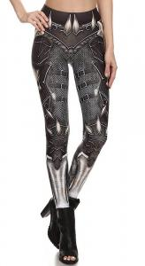 62d8d21c151ac Armor and chain mail Leggings with skulls and straps, viking warrior geek,  print