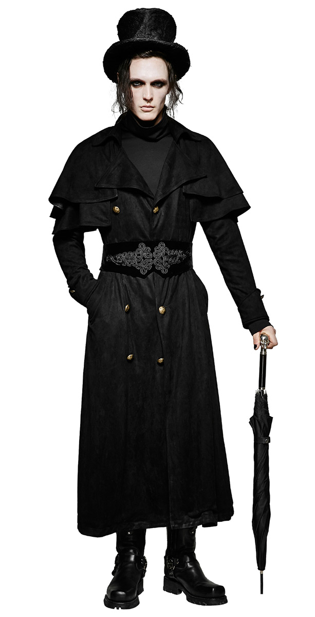 Manteau femme noir style masculin
