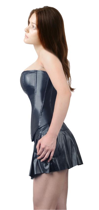ensemble corset et jupe imitation cuir noir avec zip l 39 avant gothique f tish sexy japan. Black Bedroom Furniture Sets. Home Design Ideas