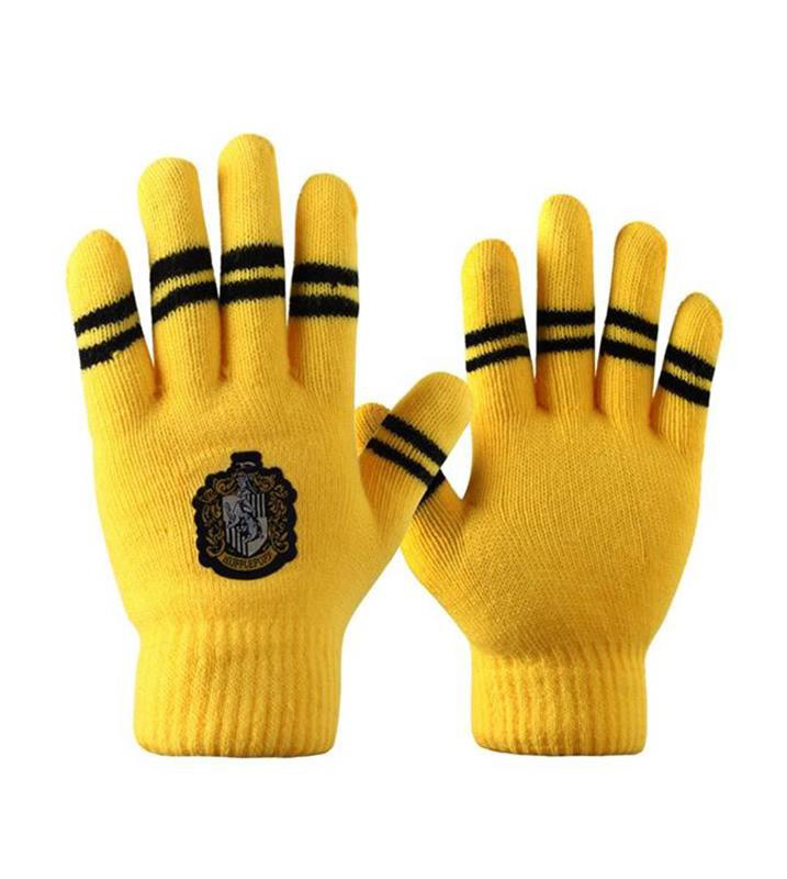 Gants jaune et noir ray sorcier poufsouffle avec blason - Blason poufsouffle ...