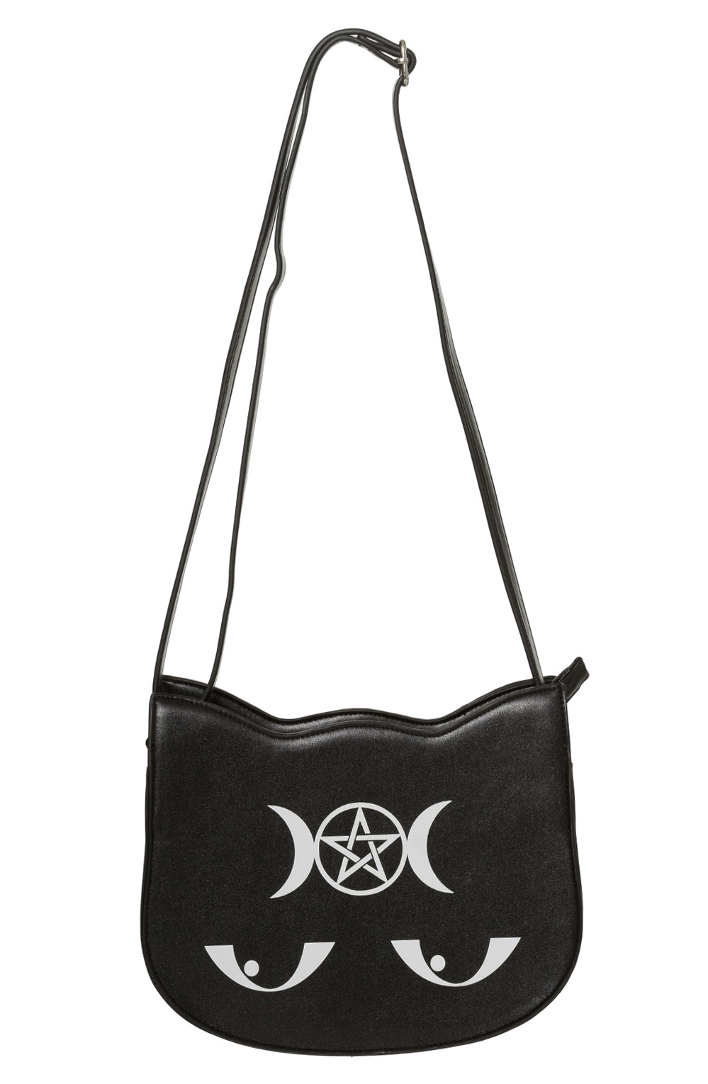 Sac à main noir chat magique, pentacle, occute, wicca, witch, banned