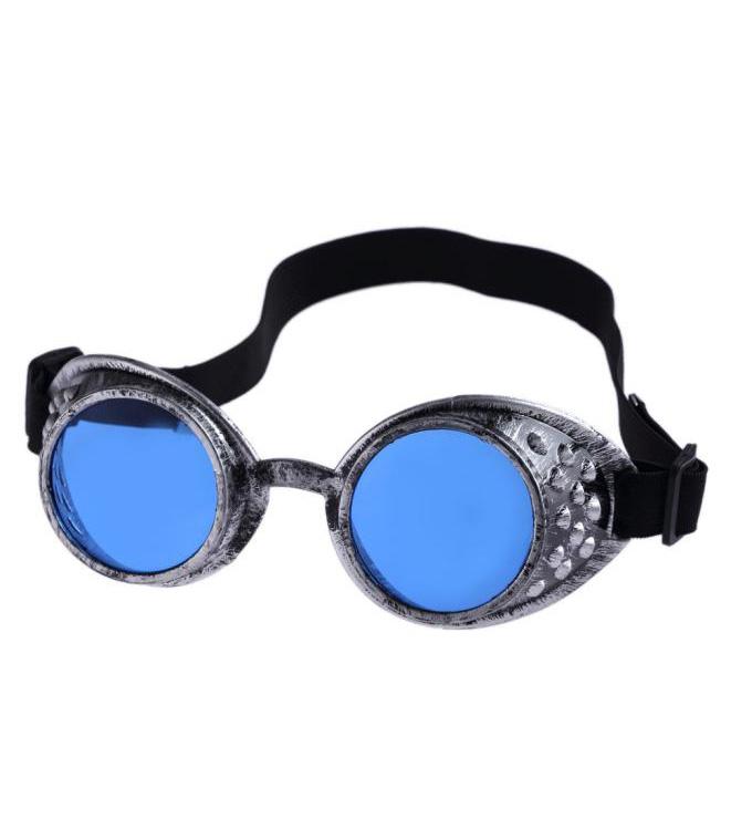 JapanAttitude Lunettes goggles gris métallisé verres teintés steampunk gothique cyber iw3Oz6I