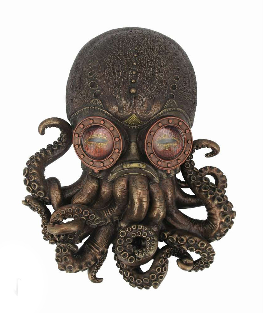 D coration de mur octopus steampunk avec goggle peinte - Decoration a la main ...