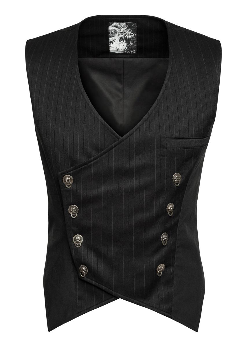 gilet de costume noir avec boutons antiques gothique l gant punk rave japan attitude punkr0293. Black Bedroom Furniture Sets. Home Design Ideas