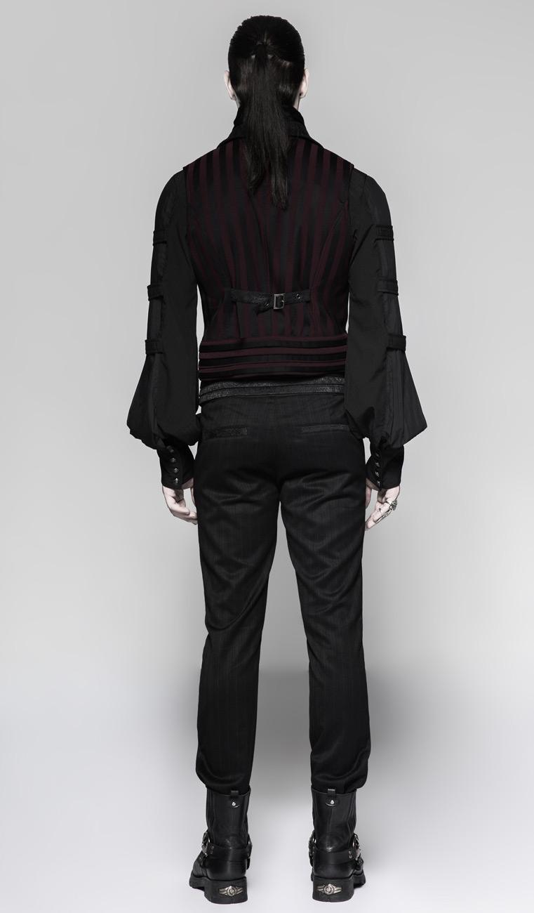 Et Manches Élégant Aristocrate Sans Veste Gothique Noire Rouge BqaSW5Iw