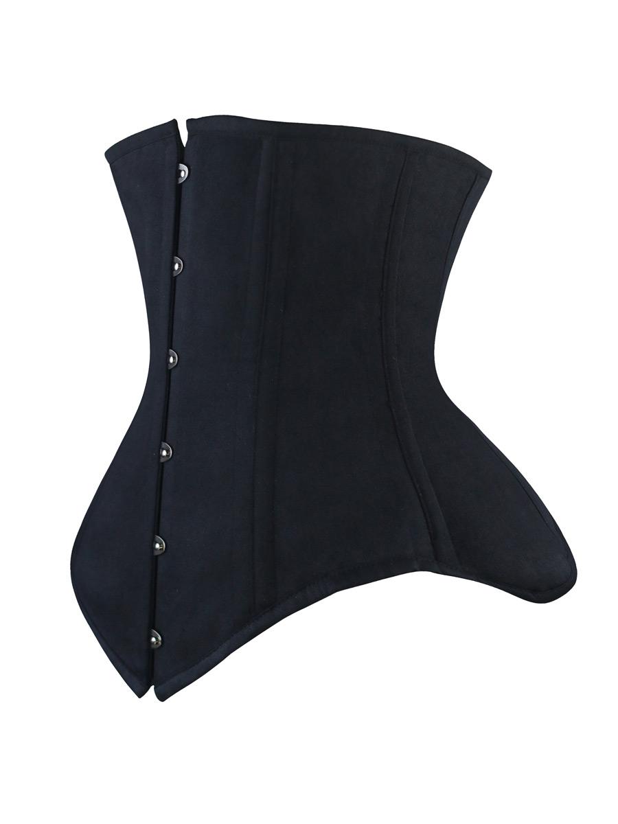 SERRE-TAILLE Corset Shaper taillen acier baleiné waistbust Soft Cuir Marron Corset