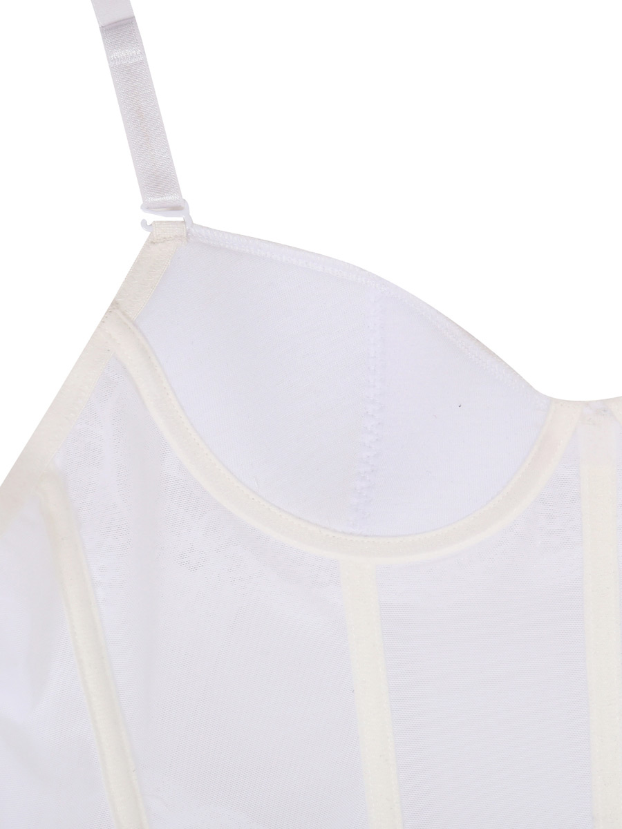 gu pi re blanche avec dentelle et porte jarretelle lingerie sexy japan attitude linnui032. Black Bedroom Furniture Sets. Home Design Ideas