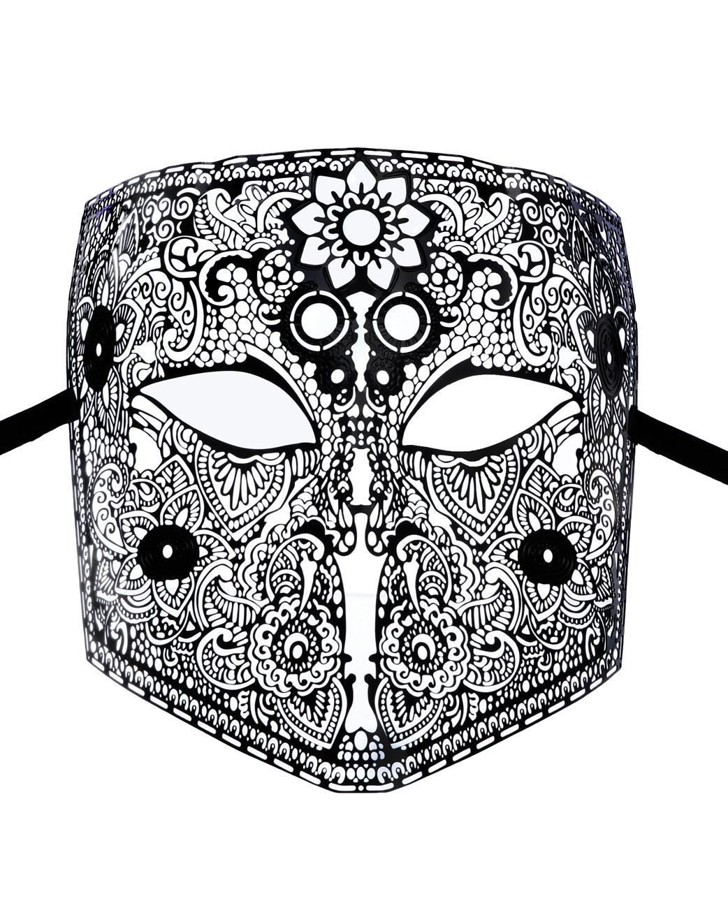 masque homme v nitien larva la bauta en m tal noir fin motif vintage bal masqu l gant. Black Bedroom Furniture Sets. Home Design Ideas