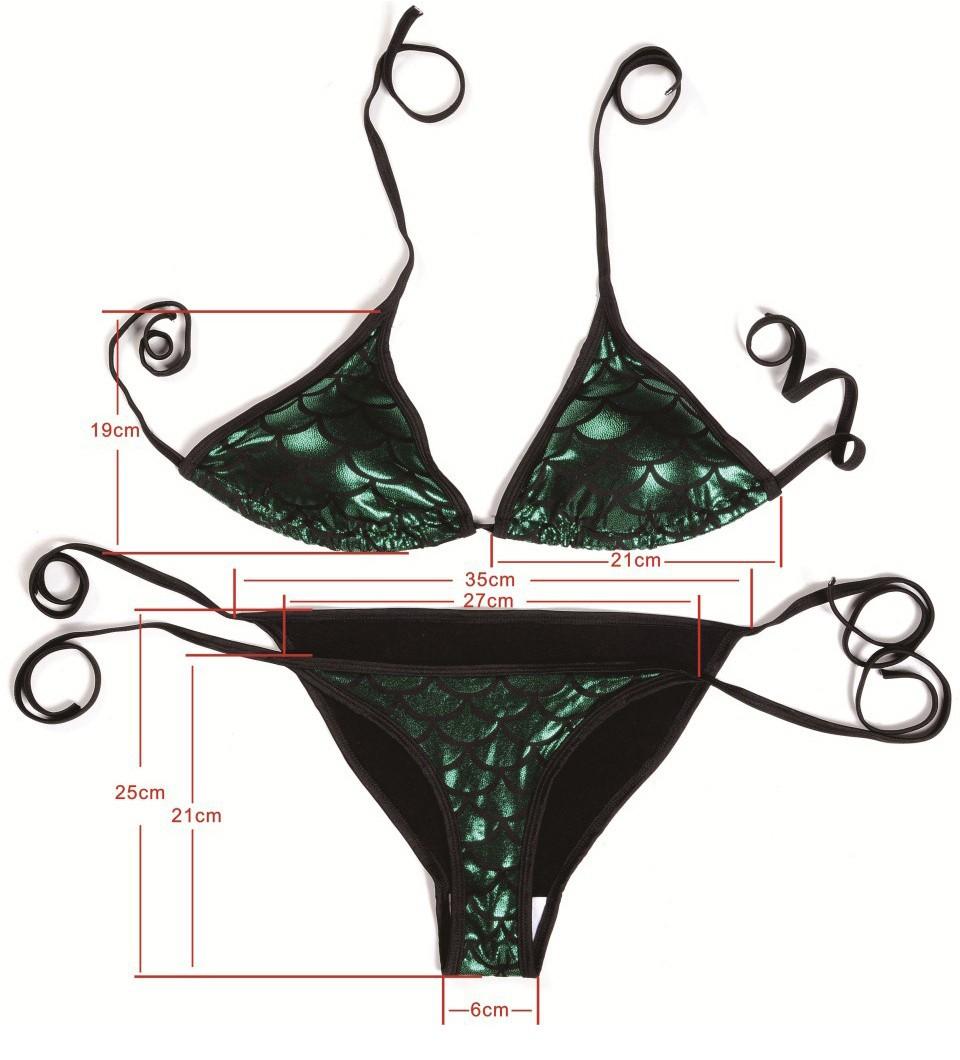 fd6313e2a0 Maillot de bain bikini violet brillant avec écailles de sirène ...