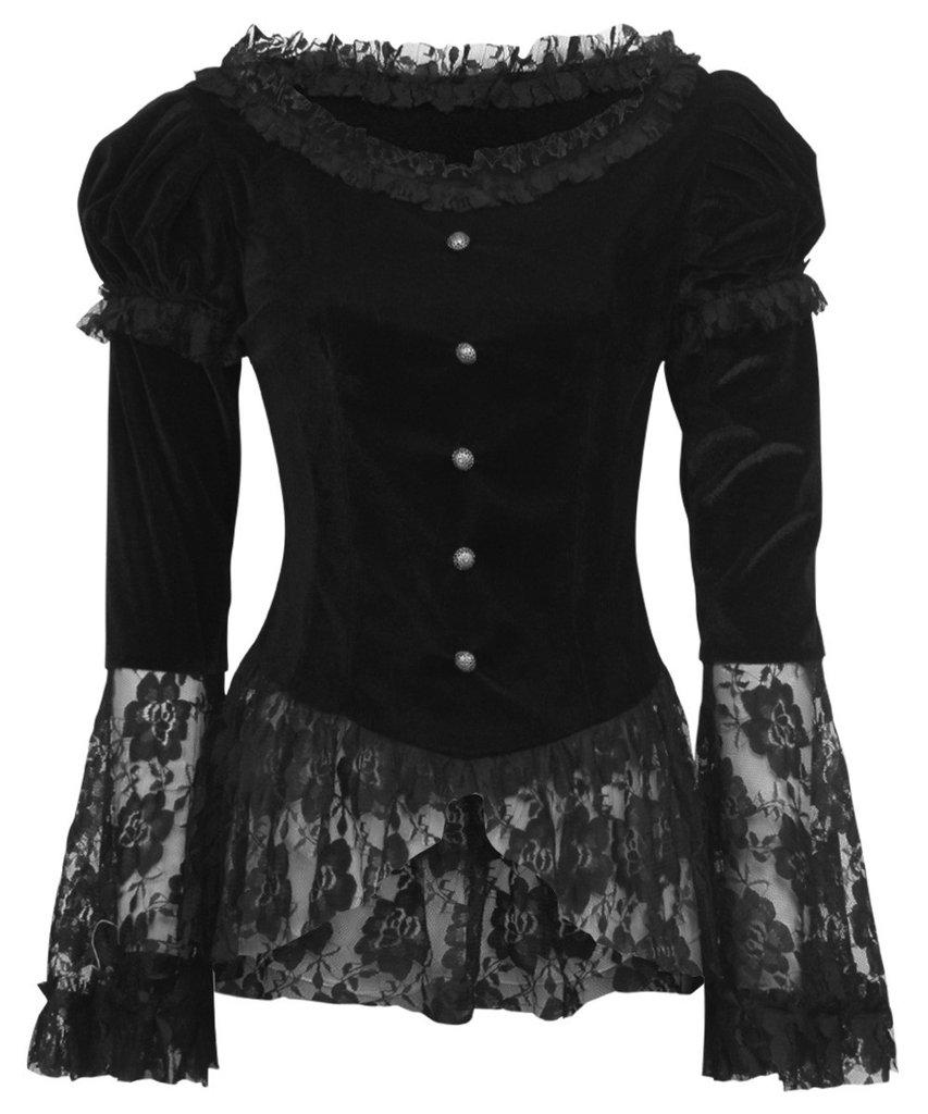 haut dentelle noir manche longue free lace long sleeved top with haut dentelle noir manche. Black Bedroom Furniture Sets. Home Design Ideas