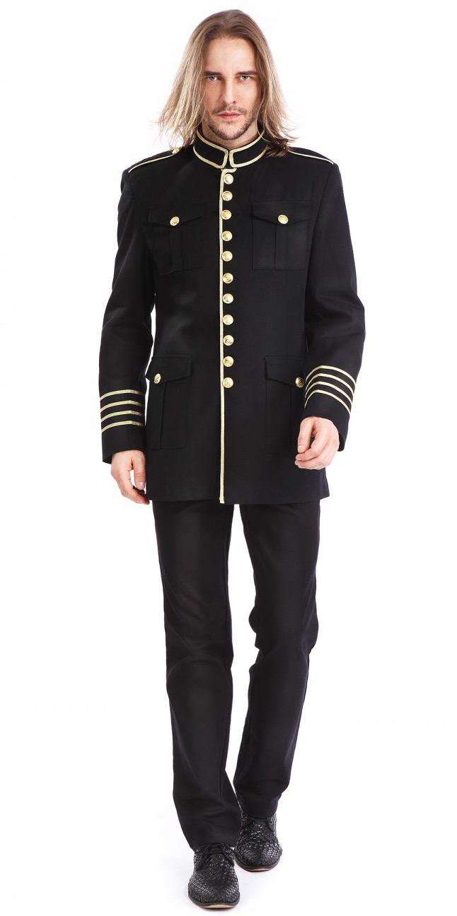 Boutons Noël À Militaire Offre Homme Bonne Noire Veste Avec 675Hp
