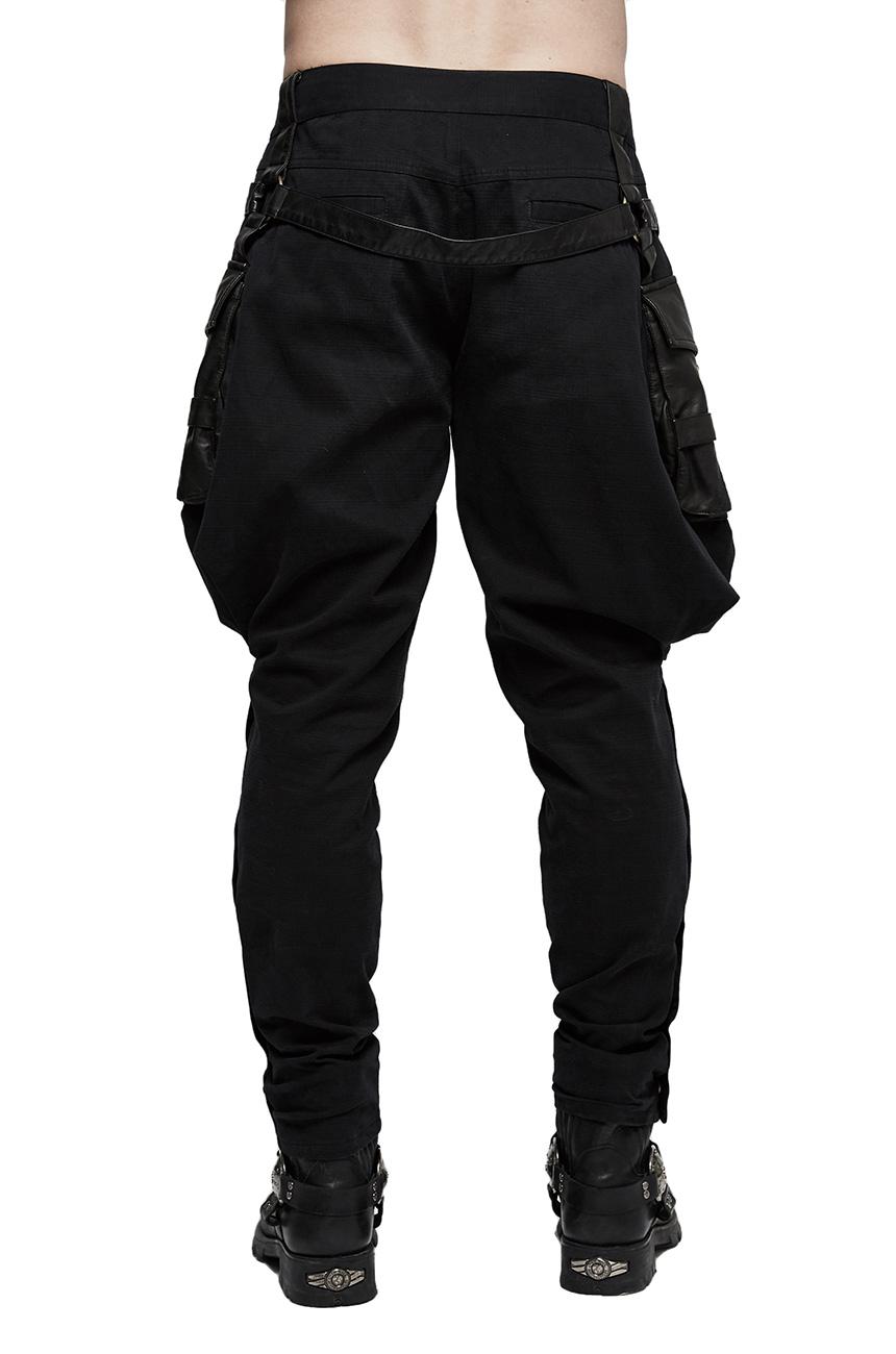 Militaire Pantalon Punk Bouffant Avec K Noir Poches Homme Gn Rave rptTp