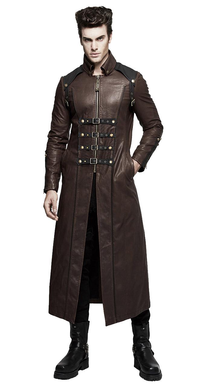 manteau cuir long