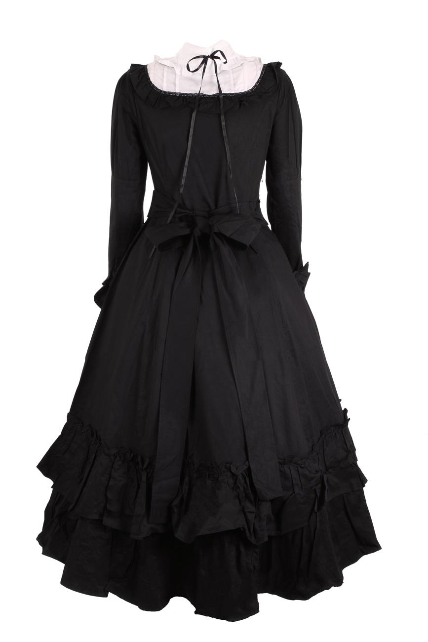 2a5c461ef49 Robe longue noire avec manches longues