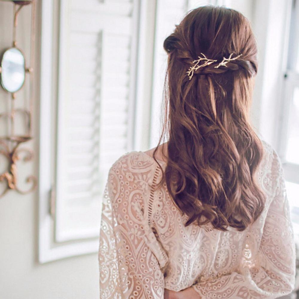 grande vente au rabais dernier style prix le moins cher Barrette à cheveux branche bois de cerf couleur doré x1 Référence :  ACCPIN359
