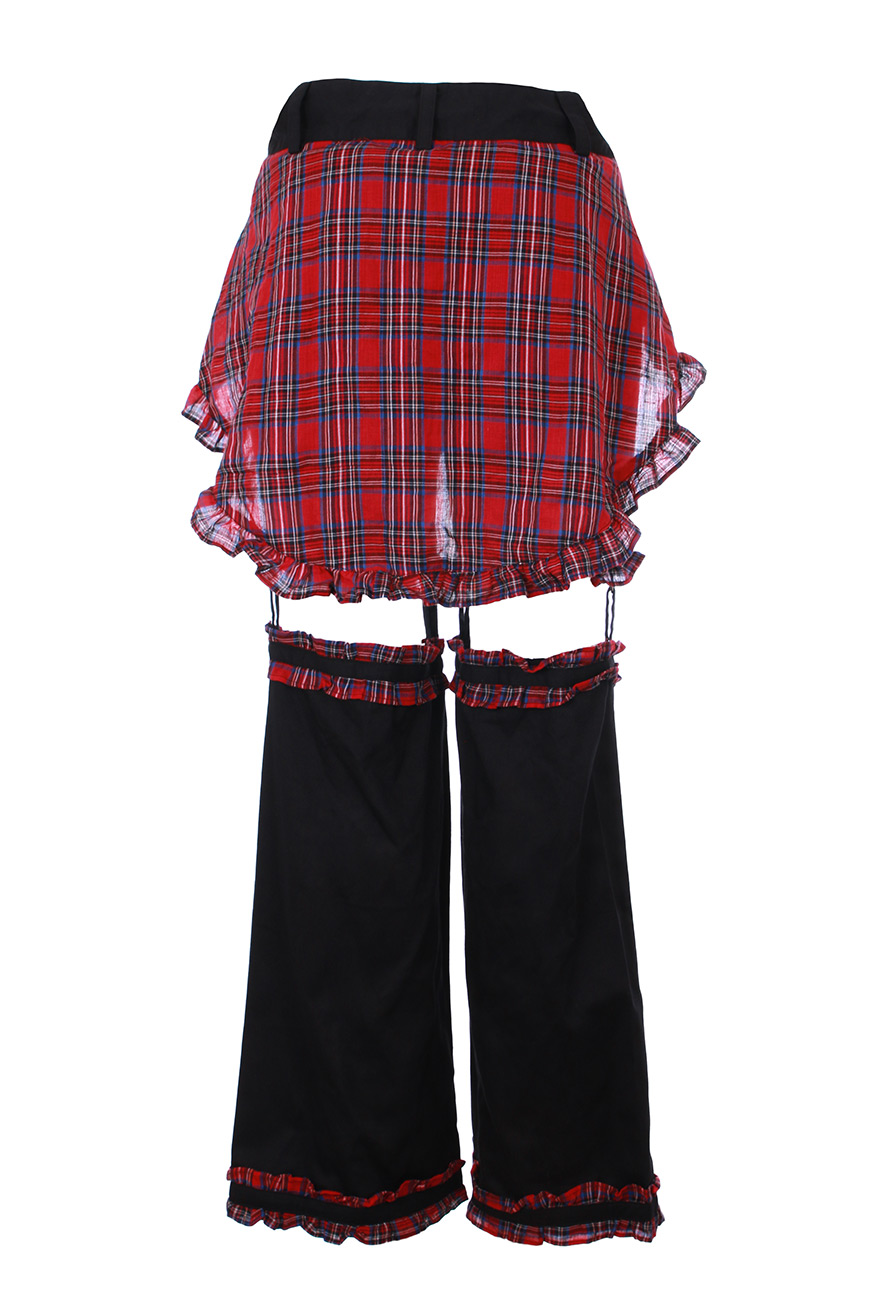 pantalon short avec legwarmer et jupe cossaise tartan. Black Bedroom Furniture Sets. Home Design Ideas
