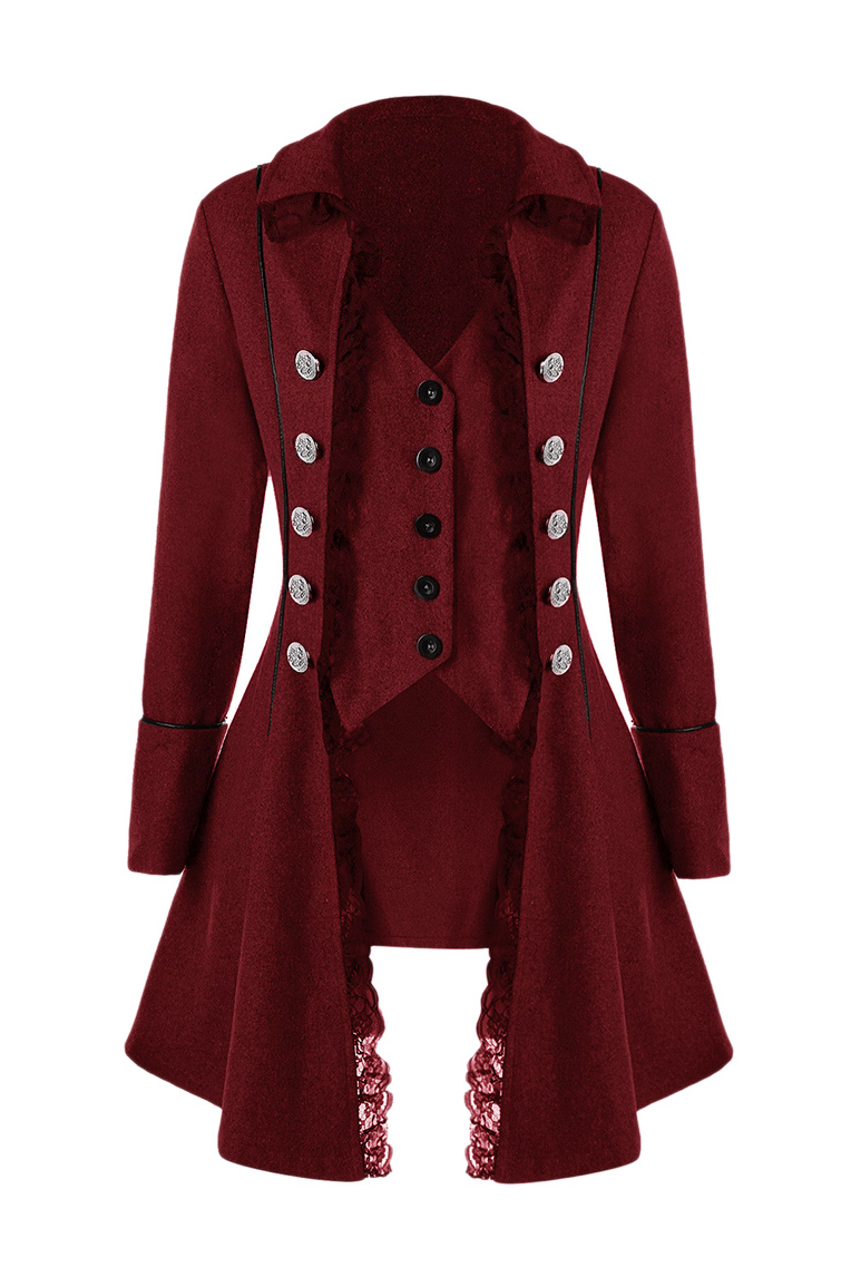 ae60f9b90 Dark red jacket with buttons and lace, elegant aristocratic victorian SKU :  VETVES257