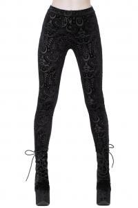 c5e2e4cdcbbd61 Black velvet leggings with occult patterns, Saiph Burnout, KILLSTAR, Gothic  witchy