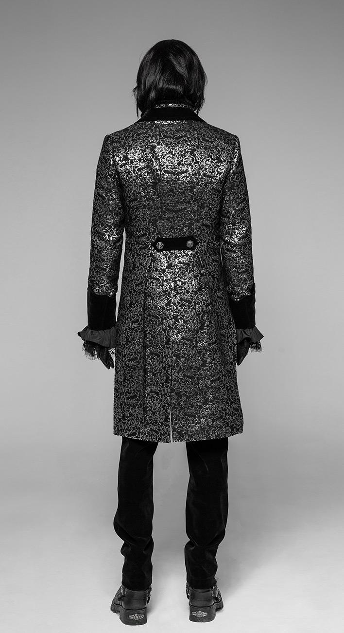 veste homme queue de pie motifs baroques argent s et. Black Bedroom Furniture Sets. Home Design Ideas