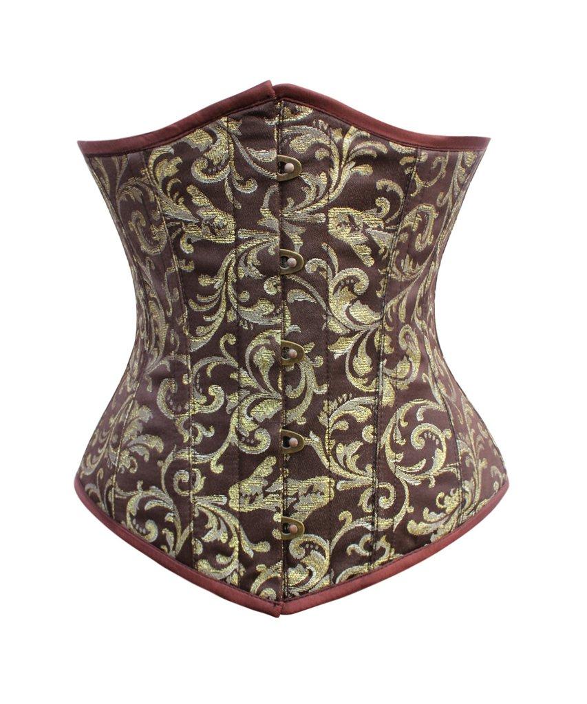 Serre size doré et brown, motifs baroques et baleines en acier, steampunk ari