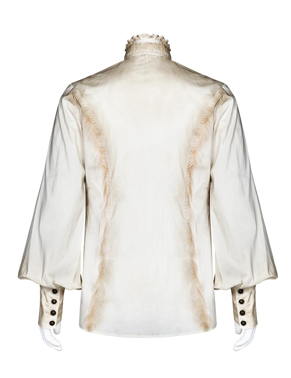 en soldes ed183 5b4b6 Chemise blanche homme, effet vieilli avec manches bouffantes, Punk Rave  Référence : PUNKR0583