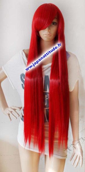 Perruque longue rouge avec dégradé 100cm,