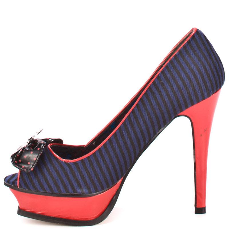 Chaussures escarpin Sinking Ships Platform bleu rouge Iron Fist ... 9452b1abaa9c