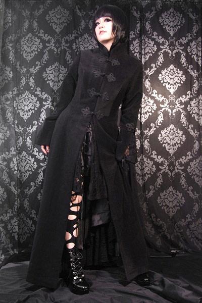 Japan À M0304 Noir Renaissance Attaches Victorien Long Manteau gt; axqwYZ8T