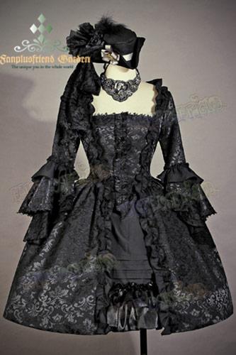 De Étages Japan Bal Robe Victorienne Princesse Rococo Noire gt; À agZzwTdHq