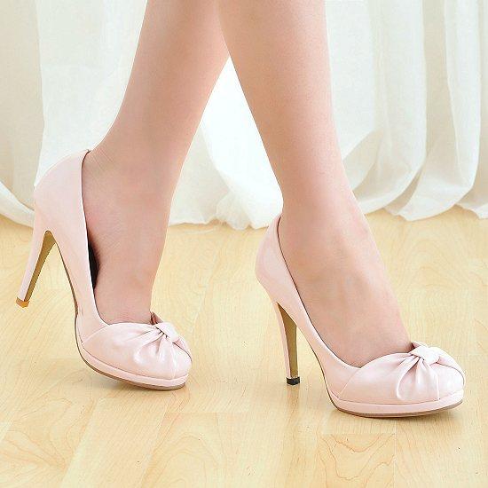 Chaussures escarpin rose avec noeud   JAPAN ATTITUDE - CHAUSS009 972b21d5a663