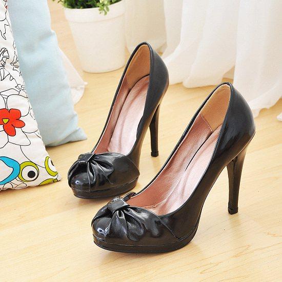 Chaussures escarpin noire avec noeud   JAPAN ATTITUDE - CHAUSS010 ab6b4ae28751