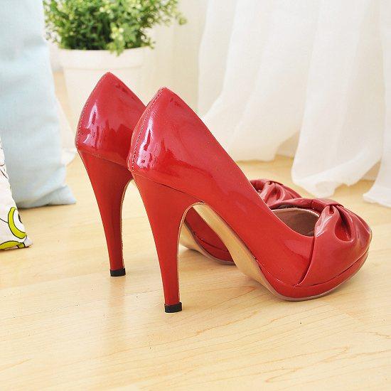 Chaussures escarpin rouge avec noeud   JAPAN ATTITUDE - CHAUSS011 0eba870633c6