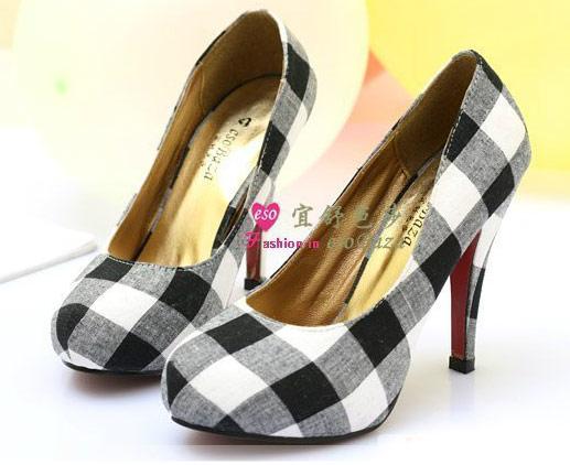 Damiers BlancGris Pin Noire Japan Et Escarpin Chaussures Upgt; culTJFK13
