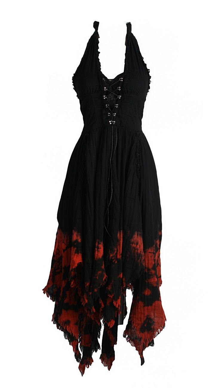 Kleid Schnürung Marylin Gotik schwarz und rot q-172bk-rd Punk Rave ...