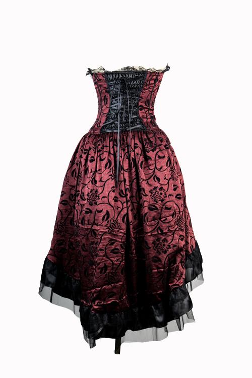 Robe corset rouge et noir