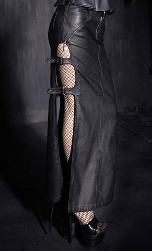 Recommend Fetish leather skirt