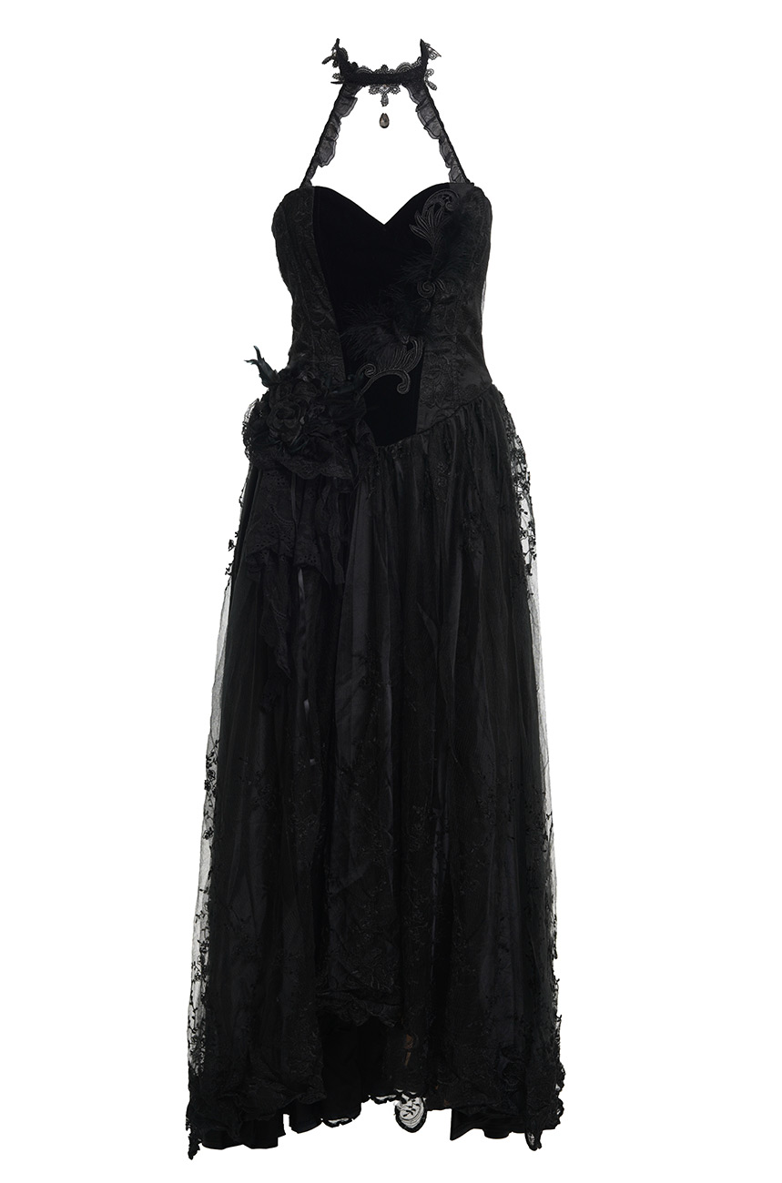 Dress Prom Black With Collar Gothic Chic Punk Rave Q 184 Punk Rave