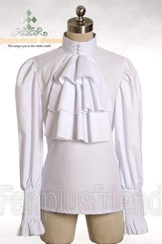 chemise blanche jabot victorien pirate version femme japan attitude vetche070. Black Bedroom Furniture Sets. Home Design Ideas