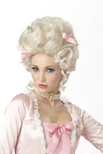 Perruque blonde claire bouclée, déguisement