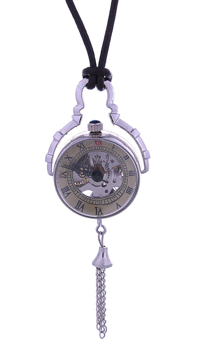 montre m canique steampunk vintage boule de verre couleur argent ebay. Black Bedroom Furniture Sets. Home Design Ideas