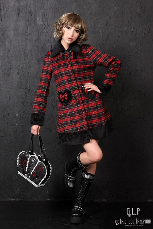 Manteau carreaux rouge et noir
