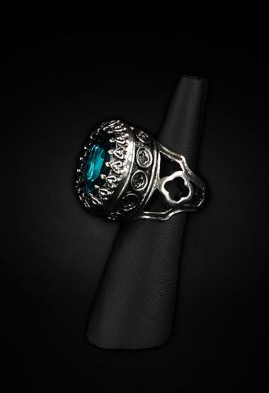 ring medaillon oval stein zyan mit fach secret gothiqu restyle ebay. Black Bedroom Furniture Sets. Home Design Ideas