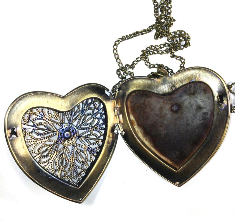 collier avec pendentif c u0153ur qui s u0026 39 ouvre vintage steampunk  u0026gt  japan attitude