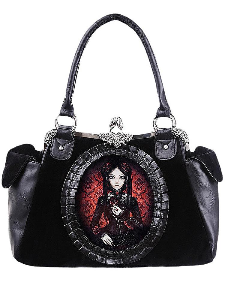 Sac gothique romantique avec poupée noire et rouge   JAPAN ATTITUDE ... 0af65ba096a