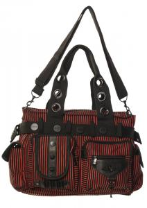 6dbe4b7c7256 Banned purse black and red stripes