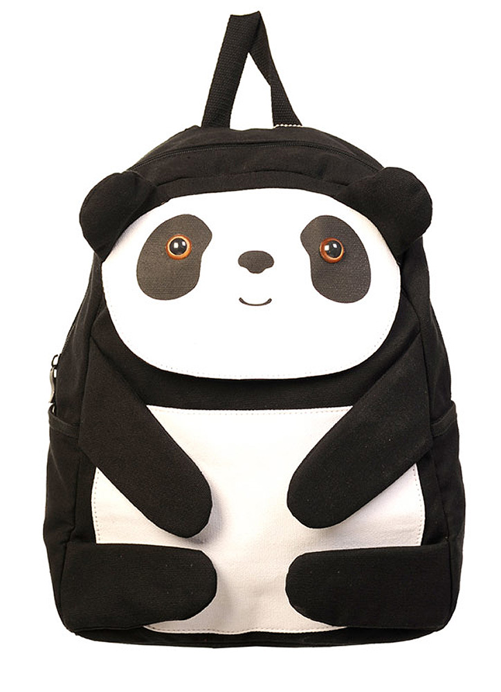 2b0344559c Sac à dos panda noir et blanc kawaii écolière Banned > JAPAN ...