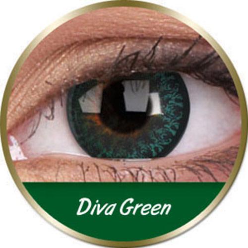 Lentilles diva green vertes phantasee (3 mois) Phantasee