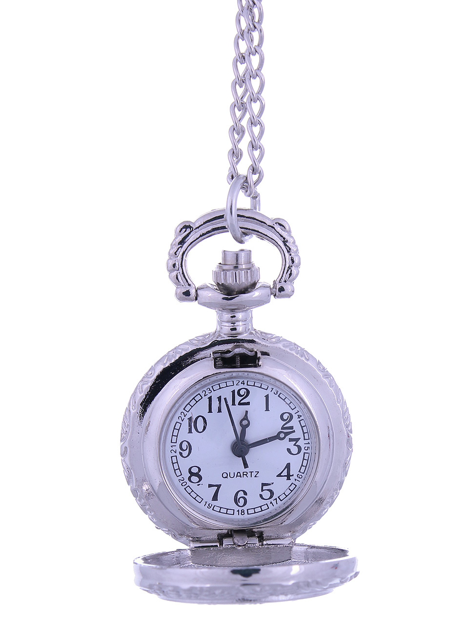 petite montre gousset argent blanche avec chiffre. Black Bedroom Furniture Sets. Home Design Ideas